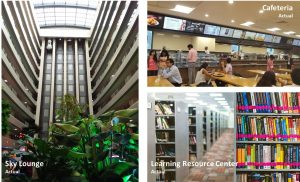 Cafeteria, Sky Lounge & Learning Resource Center